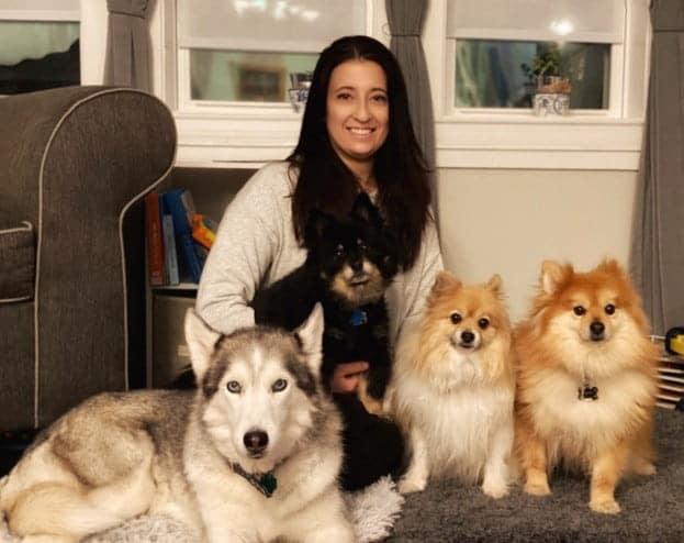 Patricia Ostaszewski CVT and her dogs
