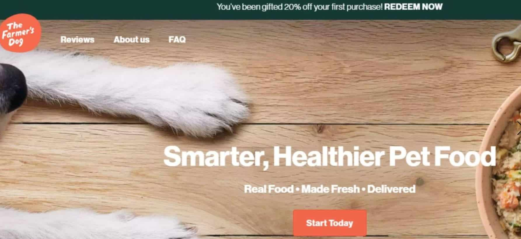Farmer's Dog is the 2nd best pet food delivery option