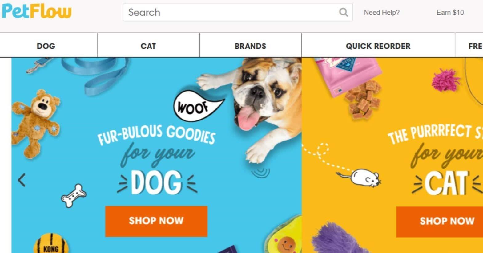 Pet Flow website